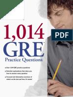 1,014 GRE Practice Questions - Excerpt.pdf