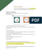 Leer La Hora en Un Reloj Anal Gico