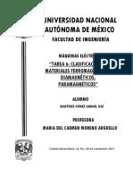 Tarea 6 Clasificacion de Materiales Ferro_Dia_Para MARTINEZ GOMEZ