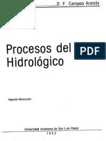 1998, Procesos Del Ciclo Hidrologico Campos Aranda