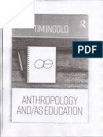 Anthropology and Education. Tim Ingol