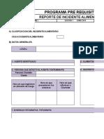 CH-IA-FR01 Reporte de Incidente Alimentario. Paciente Con Alergica de Piña. Oncosalud - 27.09.2017 OBSERVACION de SUP