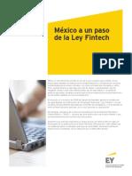 México a un paso de la Ley Fintech EY