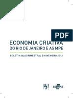 Sebrae/RJ - Economia Criativa