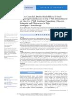 Dexamethasone Sparing Antiemetic Regimen_JCO 2018