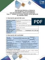 Guía de actividades y rúbrica de evaluación. Paso 2 - Analizar un circuito resistivo mixto aplicando los métodos vistos