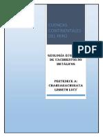 Las Cuencas Continentales Del Perú