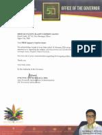 Hon. Anthony G. Del Rosario - Davao Del Norte Governor 3.28.2018 for HRM Queen Salvacion Legaspi y Espiritu Santo