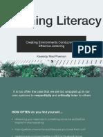 listening literacy - ecur 320