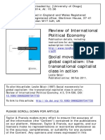 Sklair, Leslie (1997). Social Movements for Global Capitalism. the Transnational Capitalist Class in Action