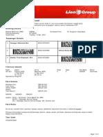 Lion Air ETicket (EYBRSY) - Atasoge