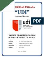 Gases Contaminantes de MOtor