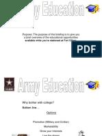 Army Education