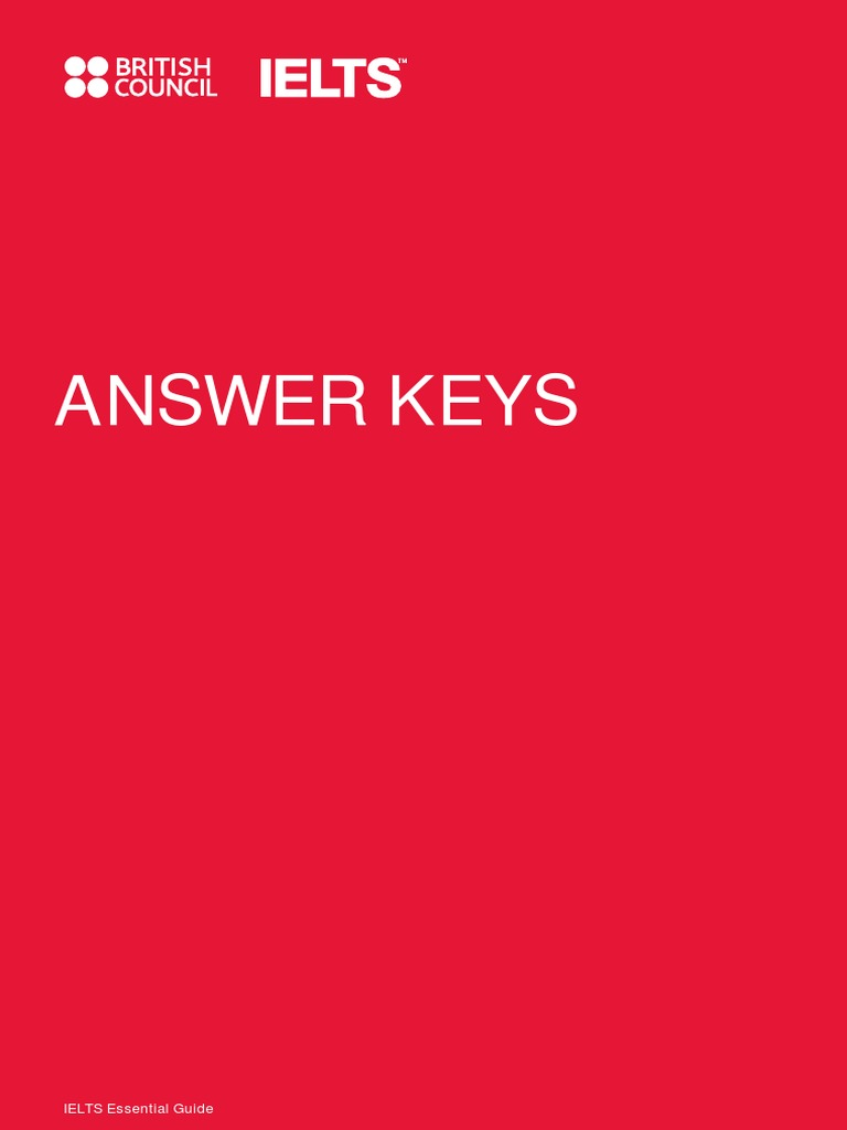 answer_keys pdf | International English Language Testing