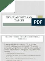 Evaluasi Sediaan Tablet