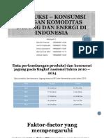 Produksi – Konsumsi Pangan Komoditas Jagung Dan Energi