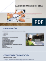 Plan y Organización de Trabajo en Obra