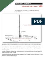 Simple Antena Vertical Para 40 Metros