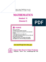 Mathematics, Standard 11, English Medium, Semester 1, 2014_2