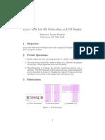 Lab 3B - Fabricating an LCD Display