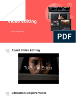 careers in entertainment  video editing
