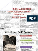 Atty Al Parreno's Report on the Legal Audit of EJK cases 2001 - 2010