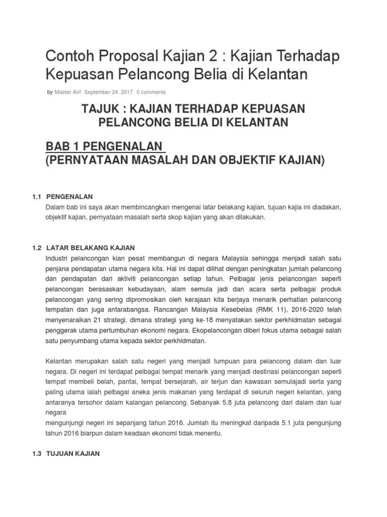 Contoh Proposal Kajian 2