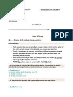 ISO Exam August 2016