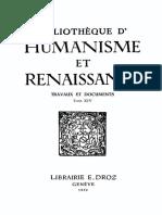 BIBLIOTHEQUE D'HUMANISME ET RENAISSANCE TOME XIV NO. 2 - 1952.pdf