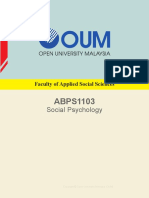 26 ABPS1103 Social Psychology CApr15 (Rs)(M)