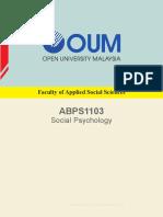 26 ABPS1103 Social Psychology CApr15 (Rs)(M)