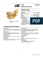 CAT 3412C Brochure Specifications