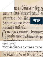 Voces indígenas escritas a mano