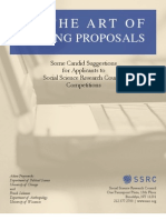 SSRC Art of Writing Proposals