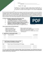 English Lab Worksheet