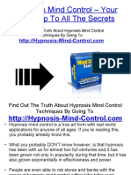 Hypnosis Mind Control - Your Free Trip to All the Secrets!