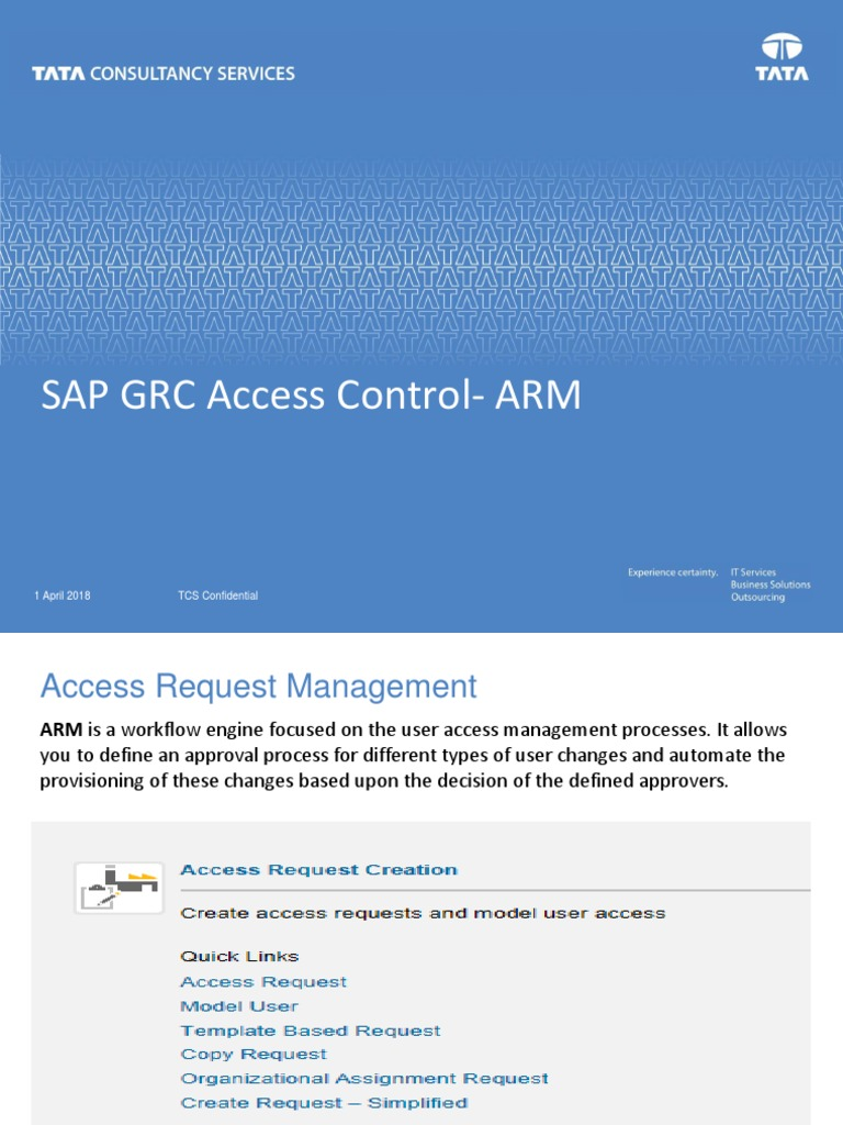 SAP GRC Access Control- ARM   Provisioning   Application Programming ...