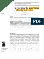 social enterprise framework