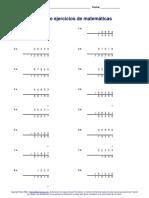 Ejercicios Matematicas Sumas y Restas Para Completar 8 Páginas