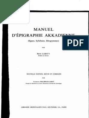 Akkadienne5 Ed1976 RManuel D'epigraphie Labat Labat D'epigraphie Labat D'epigraphie RManuel Ed1976 Akkadienne5 RManuel HI9E2D