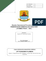 01 Sop Pemeriksaan Hematologi Analyzer ( Sysmex Poch - 100i )
