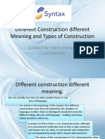Different Construction Different Meaning and Types of Construction