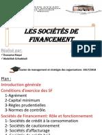 Les Sociétés de Financement 1