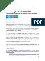 Noticia Atraso Del Reloj