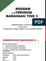 Program Intervensi Karangan Ting 3