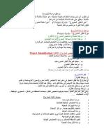 ملخص دراسة المشروع إرشادات وخطوات