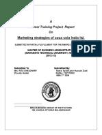Marketing Strategies of Coca Cola India Ltd Research (2)