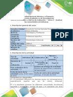 Guía de Actividades y Rúbrica de Evaluación - Tarea 3 - Analizar Las Comunidades Microbianas - Parte a y b