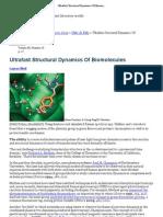 Ultrafast Structural Dynamics of Bio Molecules
