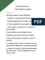 La Vida de Víctor Jara Por Cristobal Espinoza